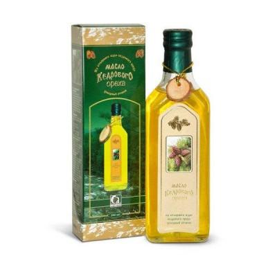 Sibiro produktas kedro riešutų branduolių aliejus, premium klasė