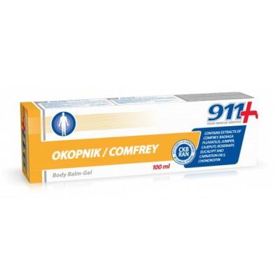 911 kosmetinis gelis kūnui okopnik, 100 ml