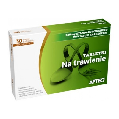 Apteo tabletės virškinimui, 30 tablečių