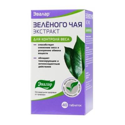 Evalar žaliosios arbatos ekstraktas, 40 tablečių