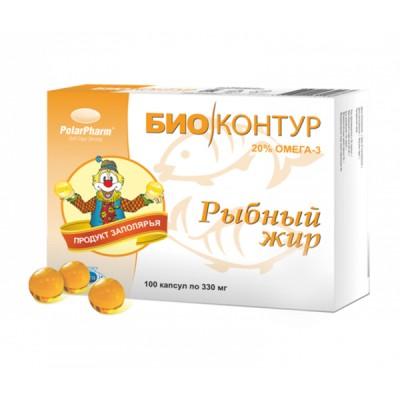 Biokontur žuvų taukai, 100 kapsulių
