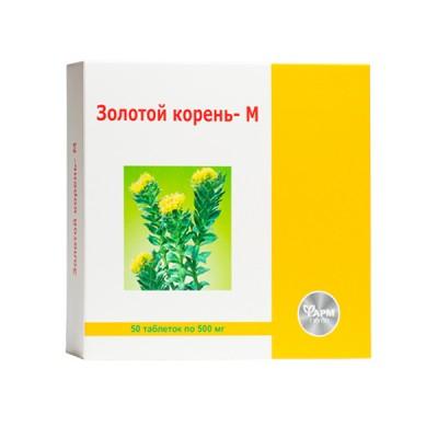 Auksinė šaknis M 500 mg, 50 tablečių