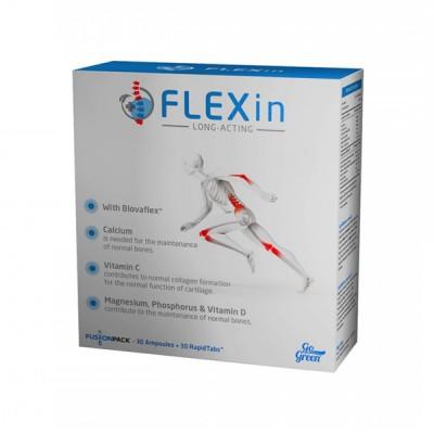 FlexIn long acting fusionpack, 30 ampulių ir 30 tablečių