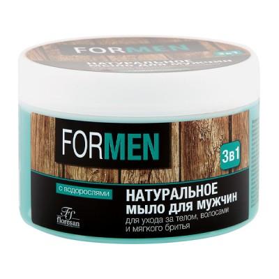 """Floresan natūralus muilas vyrams """"3in1"""", kūno, plaukų priežiūrai ir skutimuisi, 450 g"""