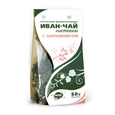 """Žolelių arbata """"Ivan-Čai"""" fermentuoti siauralapio gauromečio lapai su erškėtuoge, 50 g"""