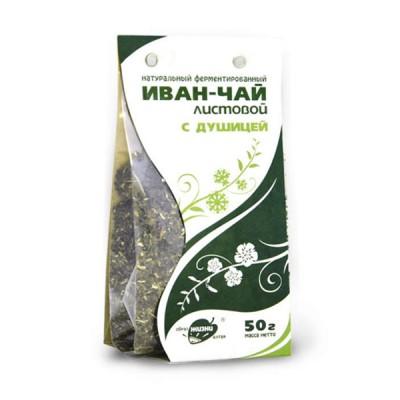 """Žolelių arbata """"Ivan-Čai"""" fermentuoti siauralapio gauromečio lapai su raudonėliu, 50 g"""