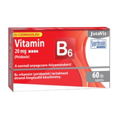 JutaVit vitaminas B6 20 mg, 60 tablečių