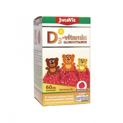 JutaVit vitaminas D3, 60 guminukų