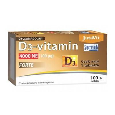 JutaVit vitaminas D3 4000 TV forte 100 mcg, 100 tablečių