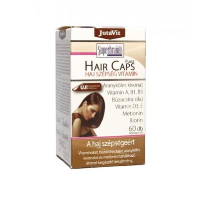 JutaVit hair caps plius, 60 kapsulių