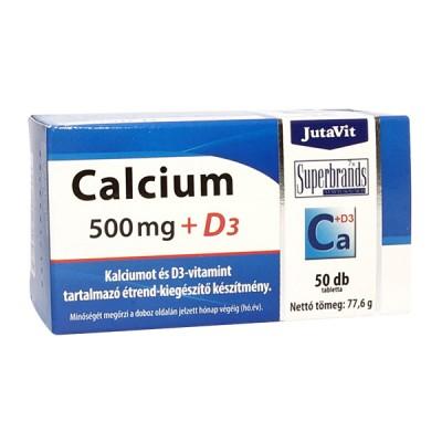 JutaVit kalcis 500 mg + D3, 50 tablečių