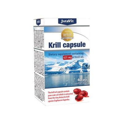 JutaVit krilių taukai 625 mg, 60 kapsulių