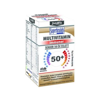 JutaVit multivitamin imunner seniorams 50+ su laktobacilomis, 45 tabletės