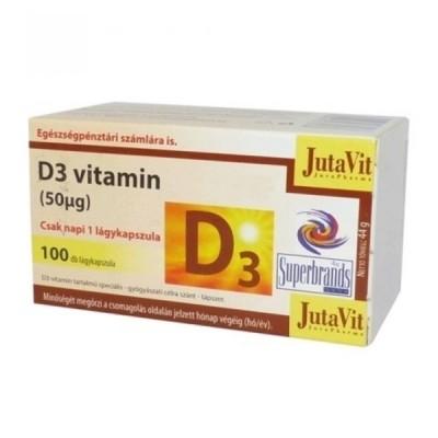 JutaVit vitaminas D 50 mcg, 100 kapsulių