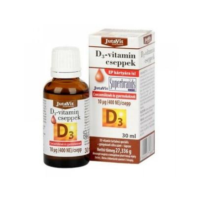 JutaVit vitamino D lašiukai vaikams 400 TV, 30 ml