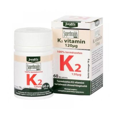 JutaVit K2 vitaminas 120 mcg, 60 tablečių