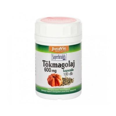 JutaVit moliūgų sėklų aliejus 600 mg, 100 kapsulių
