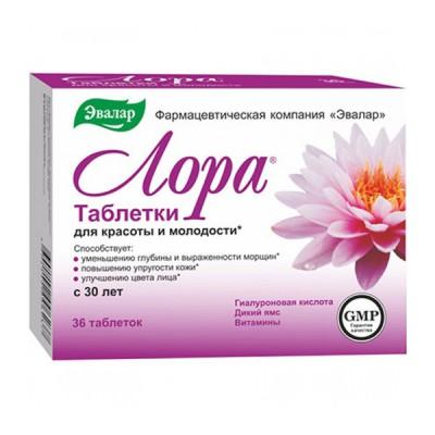 Evalar lora, 36 tabletės