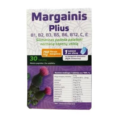 Margainis plius B grupės vitaminai, 30 tablečių