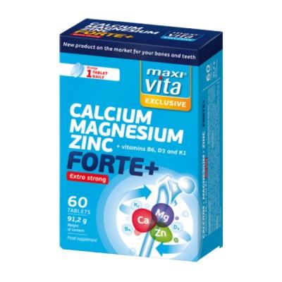 MaxiVita extra strong kalcis + magnis + cinkas forte + B6, K1, D3, 60 tablečių