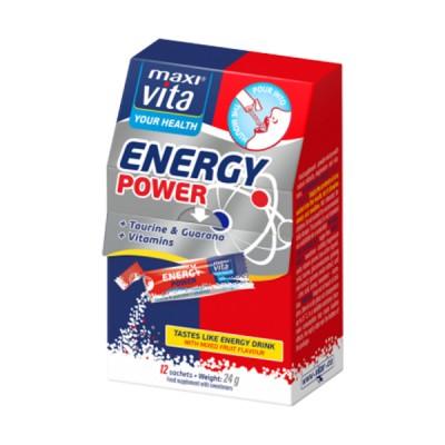 MaxiVita energy power taurinas, 12 pakelių