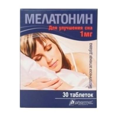 Melatoninas 1 mg, 30 tablečių