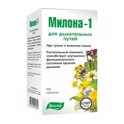 Evalar milona-1, 100 tablečių