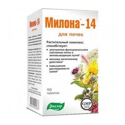 Evalar milona-14, 100 tablečių