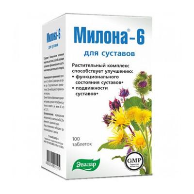 Evalar milona-6, 100 tablečių