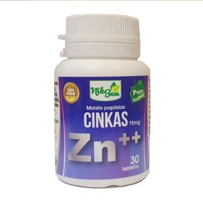 Niksen, cinkas ++ 15 mg, 30 tablečių