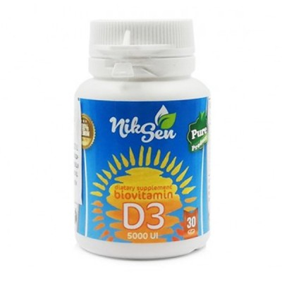 NikSen vitaminas D3 5000 TV, 30 tablečių