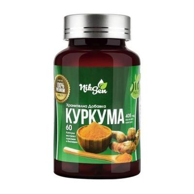 NikSen kurkuma ciberžolė + kurkumino ekstraktas + pipirų ekstraktas, 60 kapsulių