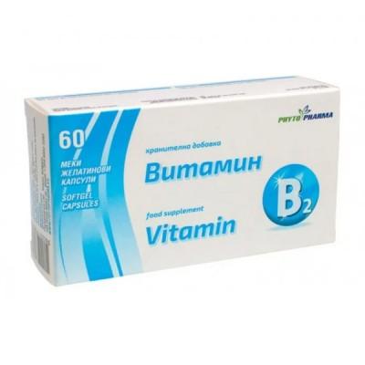 PhytoPharma vitaminas B2, 60 kapsulių