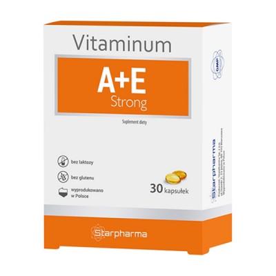 Starpharma vitaminum A + E strong, 30 kapsulių