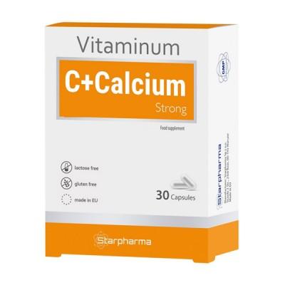 Starpharma vitaminum C + kalcis strong, 30 kapsulių