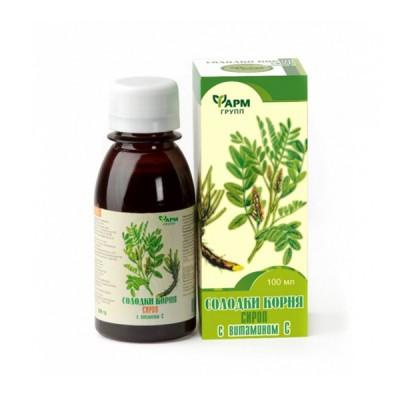 Saldymedžio šaknų sirupas su vitaminu C, 100 ml