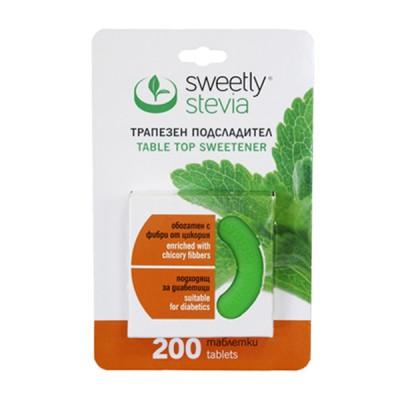Sweetly stevia saldiklis, 200 tablečių