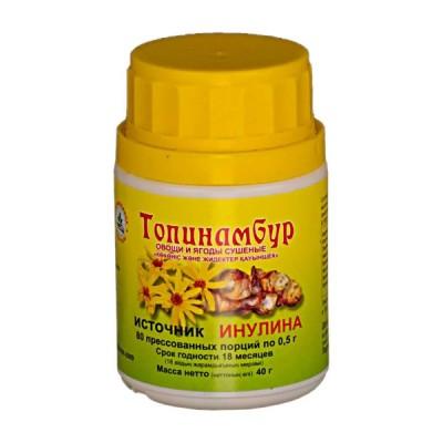 Topinambur inulino šaltinis, 80 tablečių