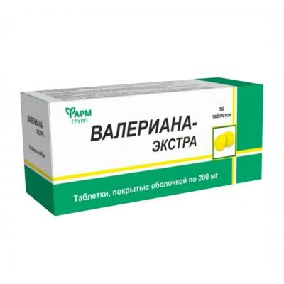 Valerijono ekstraktas, 50 tablečių